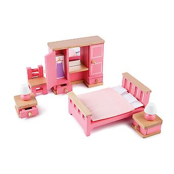 Tidlo Wooden Dolls House Bedroom Furniture Play Set Accessories