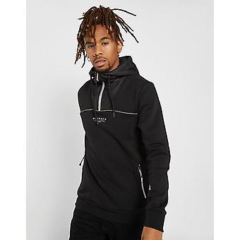 Nieuwe McKenzie mannen ' s Charles 1/4 zip hoodie zwart
