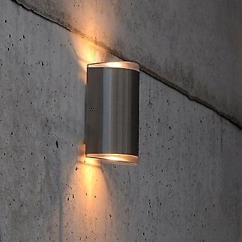 Lutec Path 15w Exterior LED Up And Down Wall Light In Stainless Steel