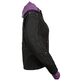 NexGen Women's Doulon 1300 Nylon Twill Fleece Jacket, Black/Purple, Size Large