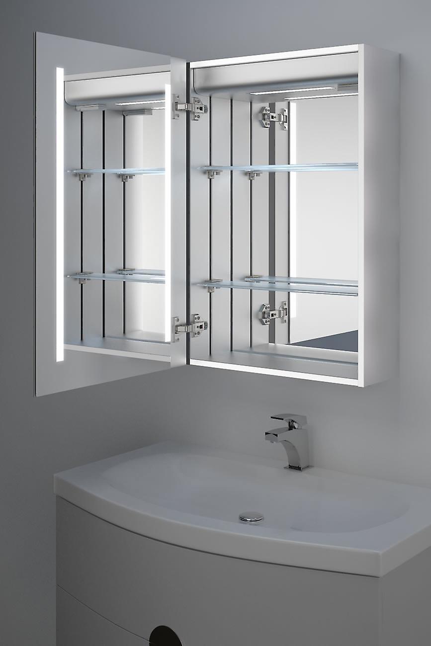 Calais LED Audio Bathroom Cabinet With Sensor, Shaver Socket k348aud