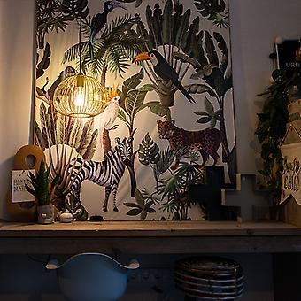 QAZQA Design hanging lamp gold - Wire Dough