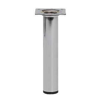 Round Chrome Furniture Leg 20 cm