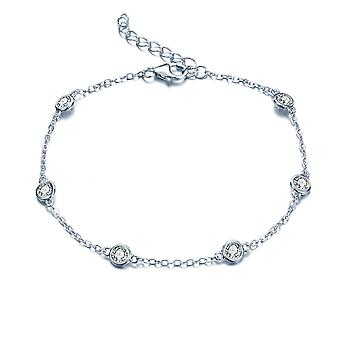 925 Sterling Argento Droplet Choker Collana