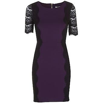 Darling Women's Lace Detail Melanie Ponte Pencil Dress