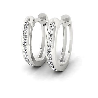 Boucles d'oreilles en diamant en diamant en argent brut 925 sterling certifiés Igi s925 sterling