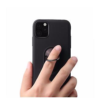 Porte-anneau noir mat et étui en brique - iPhone 11