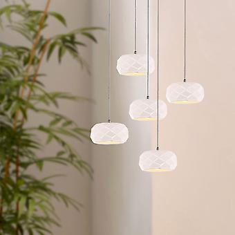 CRUST 5 Mini Pendant Lighting White