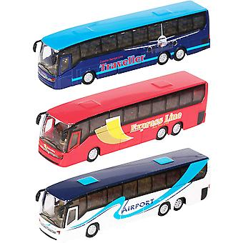 """Teamsterz 5"""" Die-cast City Coach (Styles Vary, One Supplied)"""