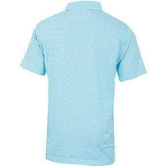 Bobby Jones Mens Performance Blend Leisure Stripe Golf Polo Shirt