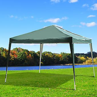 Outsunny 3 x 3M Garden Heavy Duty Pop Up Gazebo Marquee Party Tent Wedding Canopy (Green) + Carrying Bag