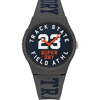 Superdry SYG182UE watch - Silicone watch gray dial Blue Man