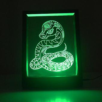 Decorative Snake Colour Changing RC LED Mirror Light Frame