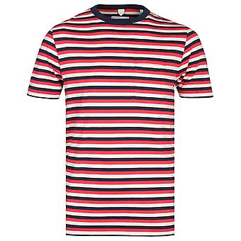 Albam Classic Multi raita punainen & Navy T-paita