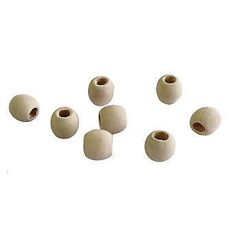 Natural Wood Oval Beads