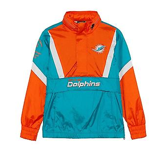 Outerstuff Nfl Miami Dolphins Ungdom Crinkle Nylon Windbreaker Jacka
