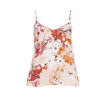 Cyberjammies 4426 Frauen's Darcie Coral Orange Floral Print Baumwolle Cami Pyjama Top