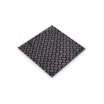 JSS Blue Aztec Silk Pocket Square