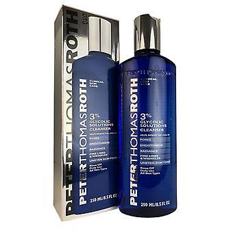 Peter thomas roth 3% soluciones glicólicas limpiador facial 8.5 oz uso diario para todos los tipos de piel