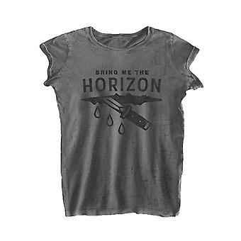 Tuokaa Horizon T paita haavan virallinen naisten uusi harmaa sammua Skinny Fit