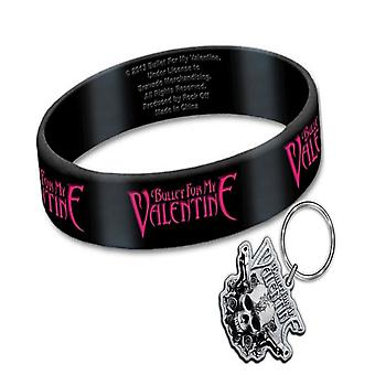 Bullet For My Valentine Wristband and Keyring Band Logo new official Gift set