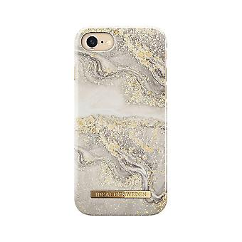iDeal Fashion Case Sparkle Greige Marmor iPhone 8/7/6s