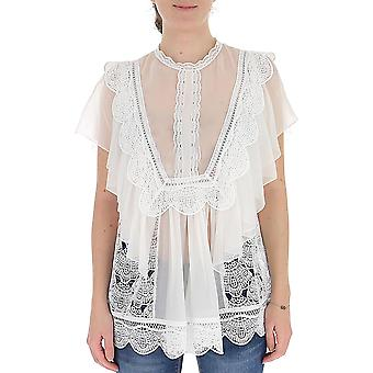 Alberta Ferretti 02291631a0002 Naiset's Valkoinen silkkipusero
