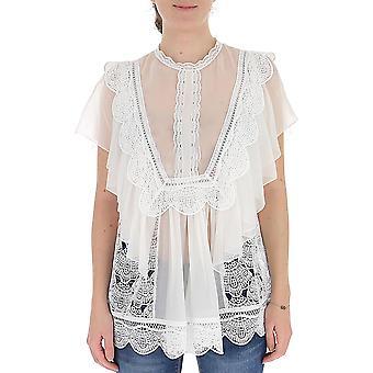 Alberta Ferretti 02291631a0002 Women's White Silk Blouse