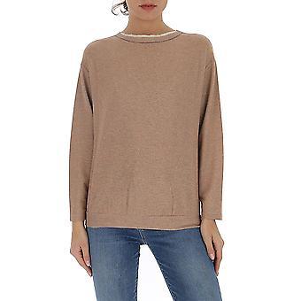 Fabiana Filippi Jed260w493a543vr2 Women's Bronze Cotton Sweater