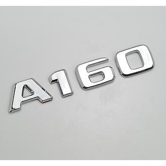 Silber Chrom A160 flach Mercedes Benz Auto Modell Nummern Buchstaben Abzeichen Emblem für eine Klasse W176 W177 AMG