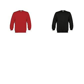 B&C Childrens/Kids Plain Crew Neck Sweatshirt (Pack of 2)