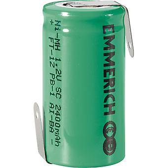 Emmerich 255002 NiMH Sub-C Size 1.2V 2400mAh Rechargeable Battery Tagged