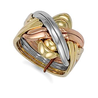 Jewelco London Men-apos;s Solid 9ct Yellow White and Rose Gold 8 Piece Puzzle Ring Jewelco London Men-apos;s Solid 9ct Yellow White and Rose Gold 8 Piece Puzzle Ring Jewelco London Men-apos;s Solid 9ct Yellow White and Rose Gold 8 Piece Puzzle Ring Jewelco