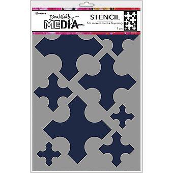 "Dina Wakley Media Stencils 9""X6"" - Large Medieval Crosses"