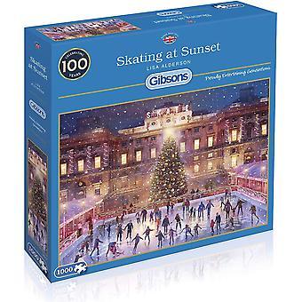 Gibsons Skating At Sunset Jigsaw Puzzle