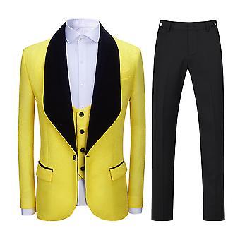 Allthemen Men's Tuxedos 3-Pieces Wedding Banquet Costumes Suits Jacket&Pants&Vest