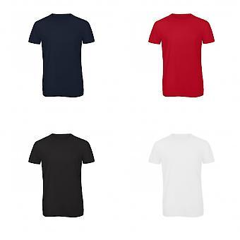 B & C Mens favoritt kort erme Triblend t-skjorte