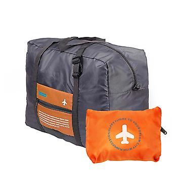 Sammenklappelig Duffel taske med opbevaringstaske - Orange