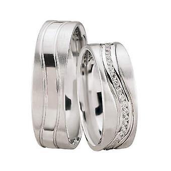White gold diamond wedding rings turned model