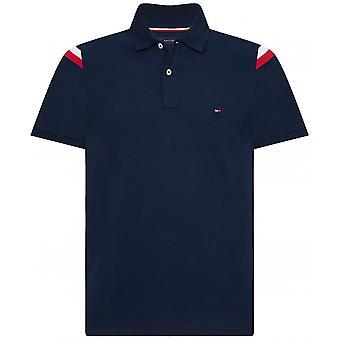 Tommy Hilfiger Slim Fit Shoulder Stripe Polo Shirt