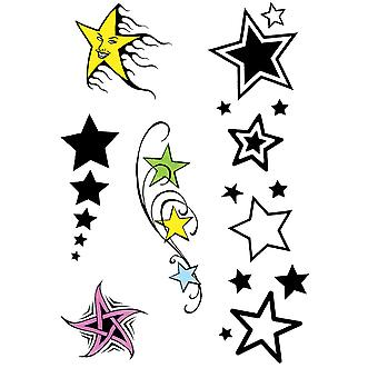 Bristol Novelty Star Theme Temporary Tattoos (Pack Of 10)