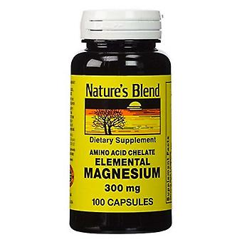 Nature's blend elemental magnesium, 300 mg, capsules, 100 ea