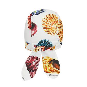 Dolce & Gabbana Cotton Bandana con All-Over Shells Stampa.