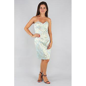 Kahelea strapless jacquard midi dress