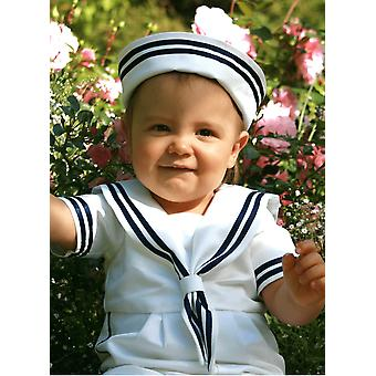 Christening Bonnet / Sailorhat per la nostra tuta da marinaio - Grace Of Sweden
