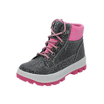 Superfit TEDD Kids Girls Boots Grey Lace-Up Boots Winter