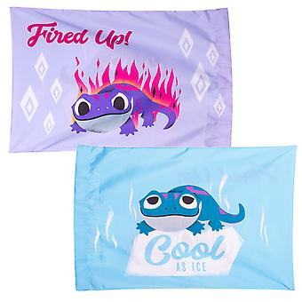 Frozen Bruni the Fire Spirit Salamander Hot & Cold Pillow Case