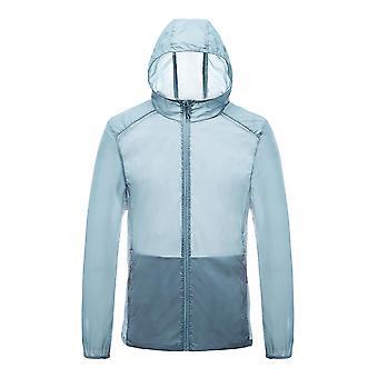 Allthemen Men-apos;s Stretch Zipper Hooded Sun Protection Coats