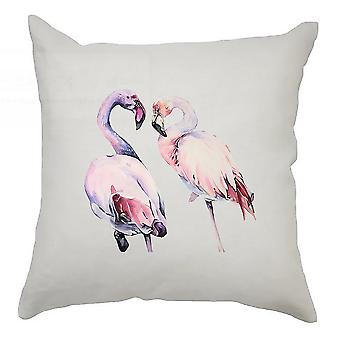 Watercolour  Cushion Cover 40cm x 40cm Flamingo