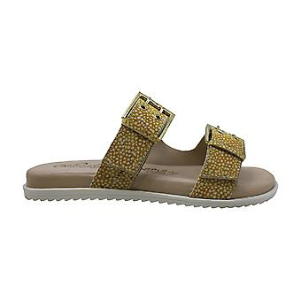 Naughty Monkey Womens Hey Pony Leather Open Toe Casual Slide Sandals